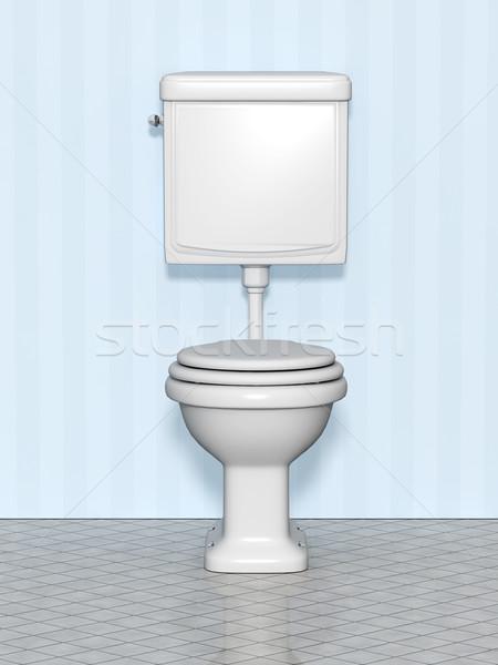 Kép fehér szabvány wc fény otthon Stock fotó © magann