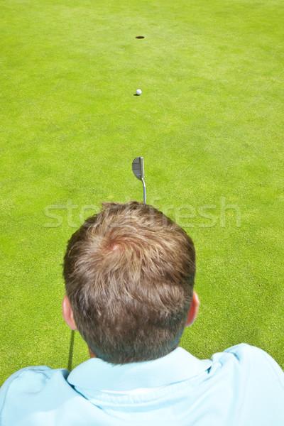 Golfozó kép fiatal férfi férfi fa Stock fotó © magann