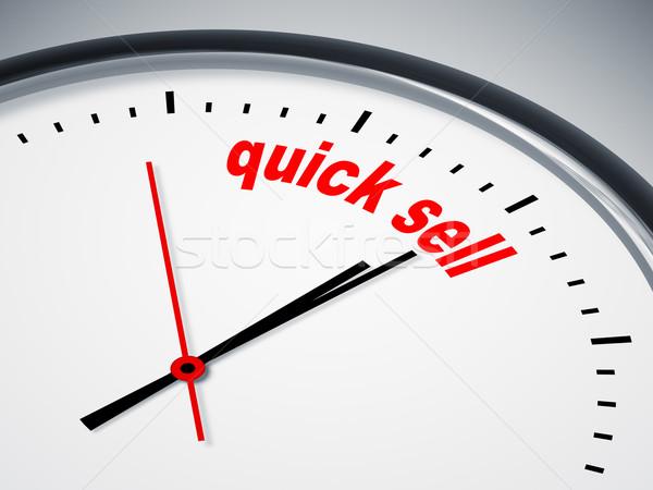 Szybki sprzedać obraz nice zegar działalności Zdjęcia stock © magann