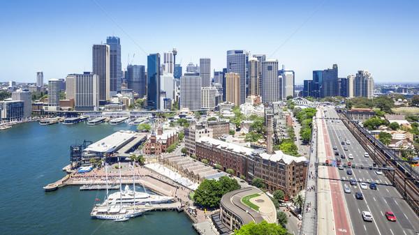 Sydney mooie stad haven brug Stockfoto © magann