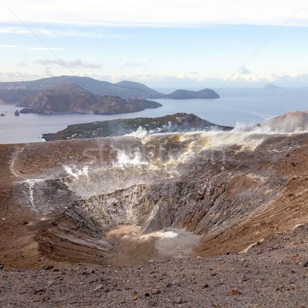 Lipari Islands active volcano Stock photo © magann