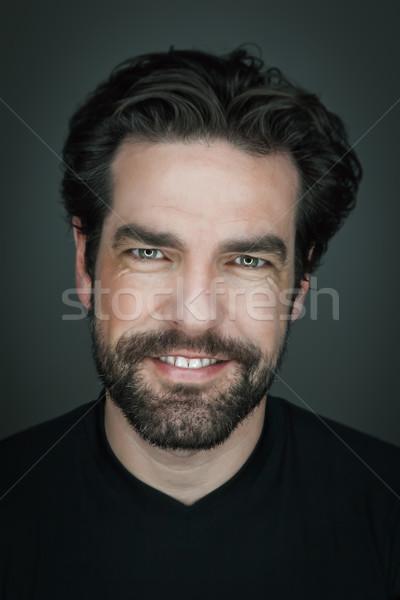 Hombre barba imagen guapo sonriendo sonrisa Foto stock © magann