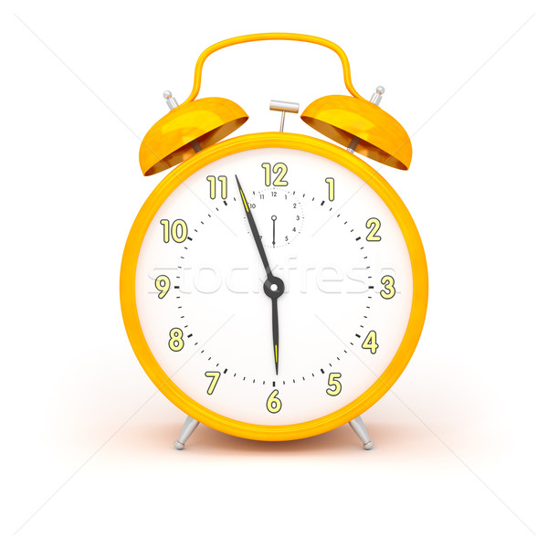 orange alarm clock Stock photo © magann