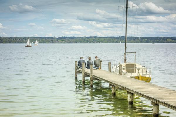 jetty Starnberg lake Stock photo © magann
