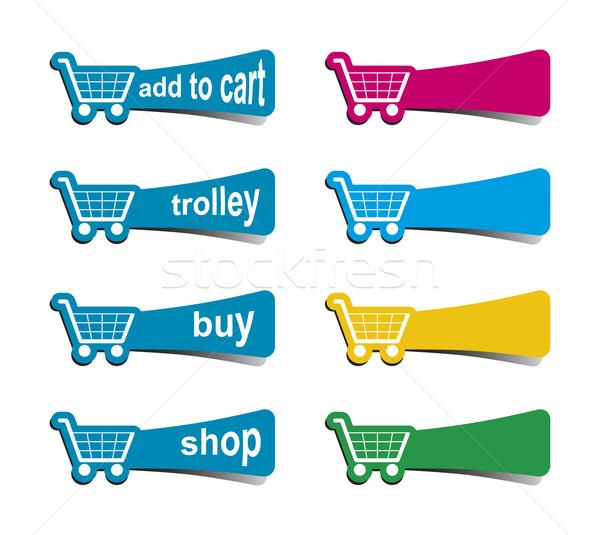 shopping icons Stock photo © magann