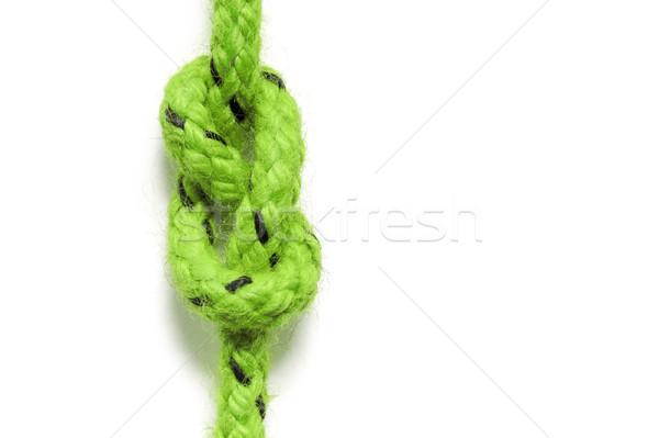Zöld csomó izolált fehér kép háttér Stock fotó © magann