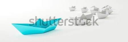 a blue boat and some white Stock photo © magann