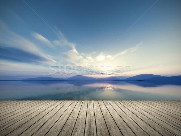 Fantázia tájkép kép szép víz nap Stock fotó © magann