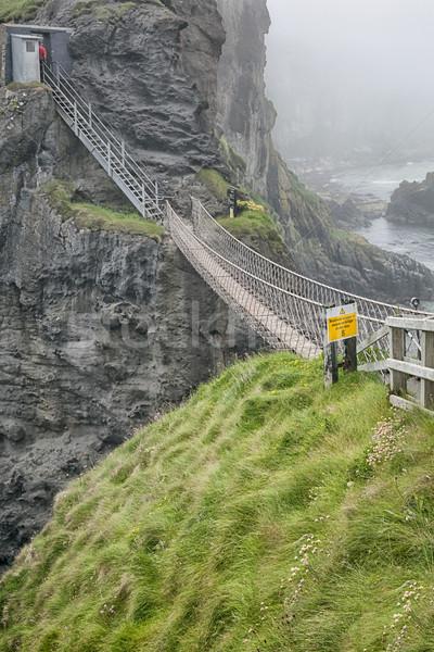 rope bridge at carrick a reed Stock photo © magann