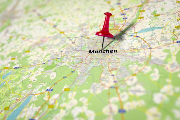 Harita Münih görüntü Almanya kaynak kâğıt Stok fotoğraf © magann