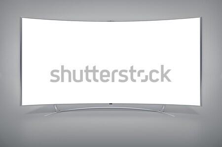 Szélesvásznú televízió kép nagy számítógép terv Stock fotó © magann