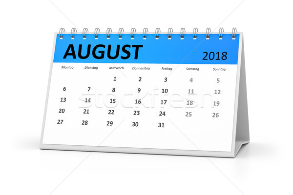 german language table calendar 2018 august Stock photo © magann