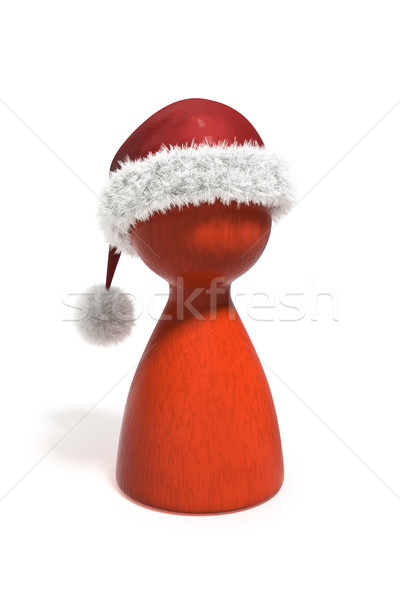 Rood christmas pion geïsoleerd witte 3d illustration Stockfoto © magann