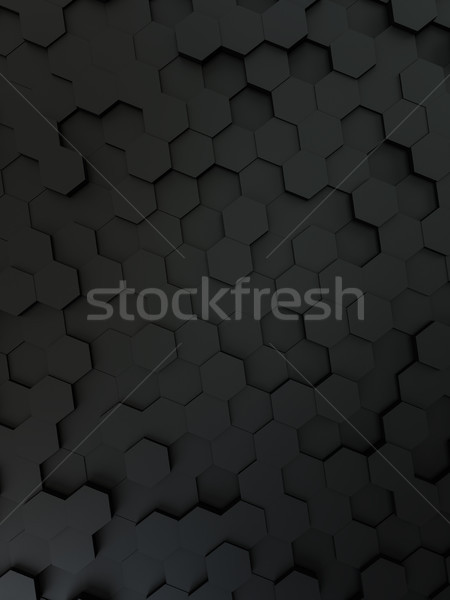 black hexagon background Stock photo © magann