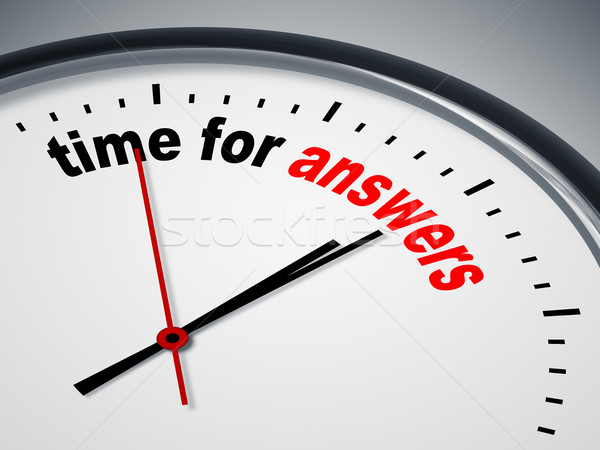 time for answers Stock photo © magann