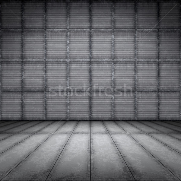 rusty steel plate floor Stock photo © magann