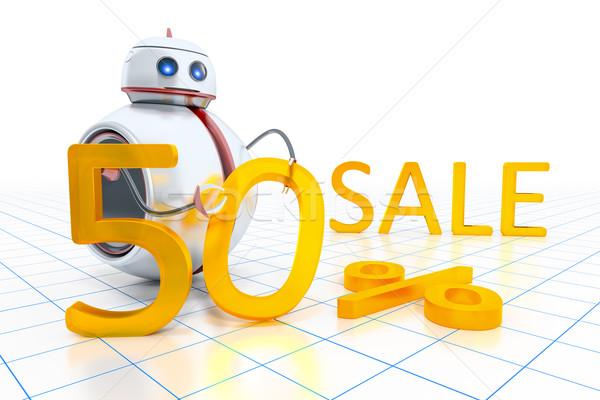 Сток-фото: Sweet · мало · робота · продажи · 50 · процент