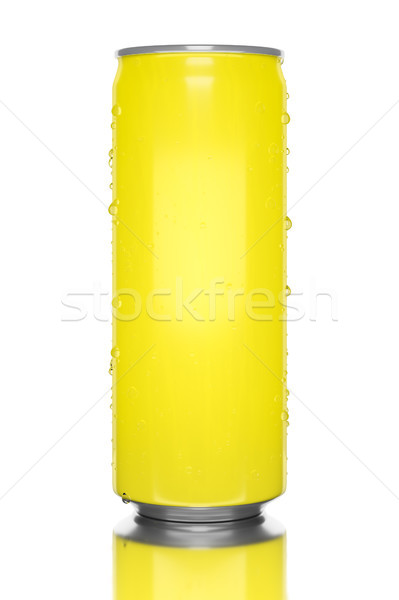 typical yellow energy drink tin Stock photo © magann