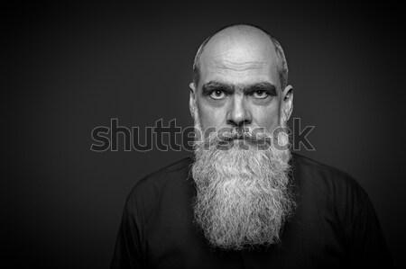 мужчины портрет долго борода изображение лице Сток-фото © magann