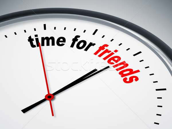time for friends Stock photo © magann