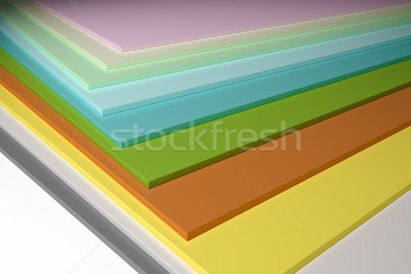 colorful plain chipboard Stock photo © magann