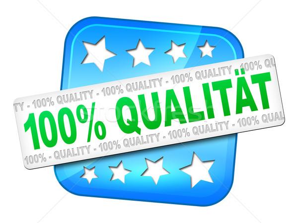 Calidad garantizar idioma símbolo negocios dinero Foto stock © magann