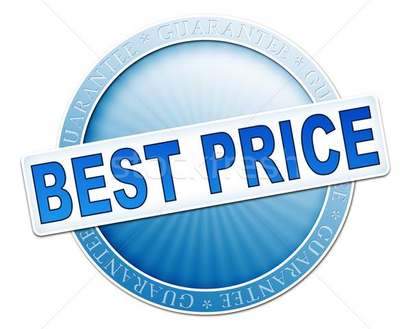 Legjobb ár gomb kék kép hasznos pénz Stock fotó © magann