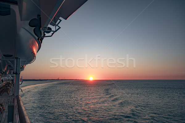 elbe sunset Stock photo © magann
