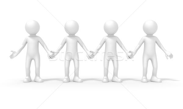 4人 チーム 画像 立って 手 女性 ストックフォト © magann