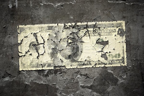 worn 100 dollar note Stock photo © magann