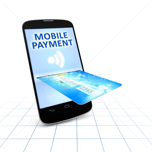 Kredi kartı hareketli ödeme 3D Stok fotoğraf © magann