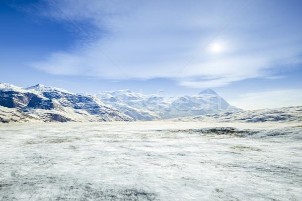 фантазий зима декораций 3D Мир Сток-фото © magann