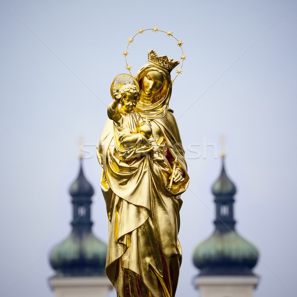 Golden Madonna Statue Tutzing Stock photo © magann