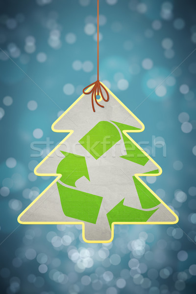 christmas recycling sign Stock photo © magann
