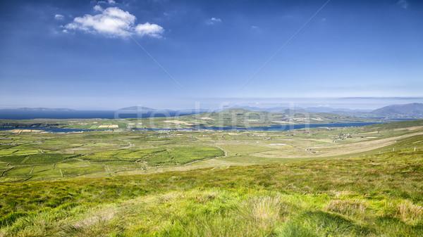 Ierse landschap afbeelding hemel zee berg Stockfoto © magann