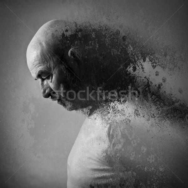 歳の男性 悲しみ グレー あごひげ 肖像 ストレス ストックフォト © magann