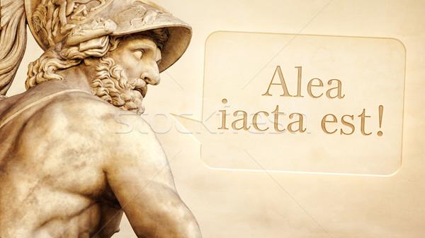Heykel metin Roma heykel mesaj adam Stok fotoğraf © magann