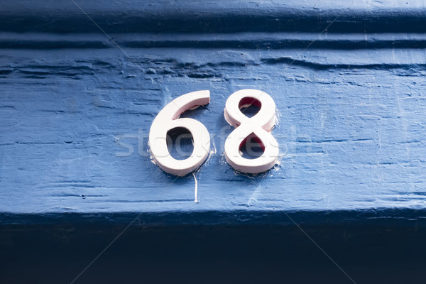 house number sixty eight Stock photo © magann