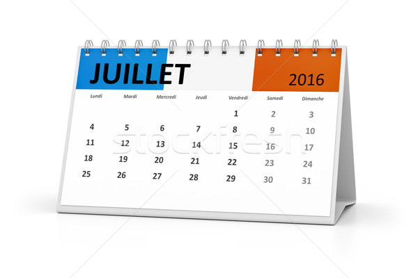 french language table calendar 2016 july Stock photo © magann