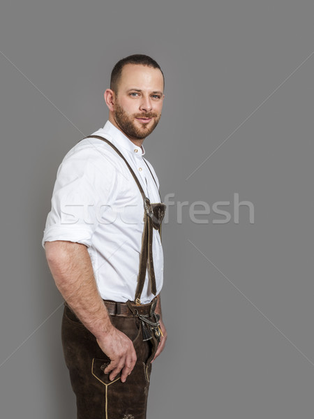 man in bavarian traditional outfit for Oktoberfest Stock photo © magann