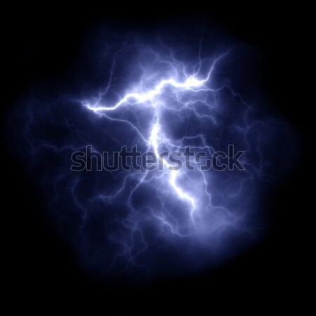 Donder bliksem nacht illustratie textuur Stockfoto © magann