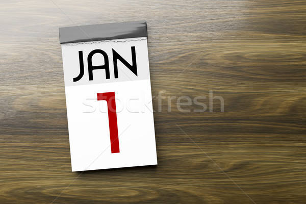 Calendar the 1st of January New Year's Day Stock photo © magann