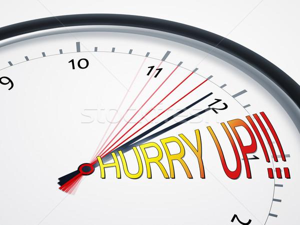Dépêchez up image Nice horloge affaires Photo stock © magann