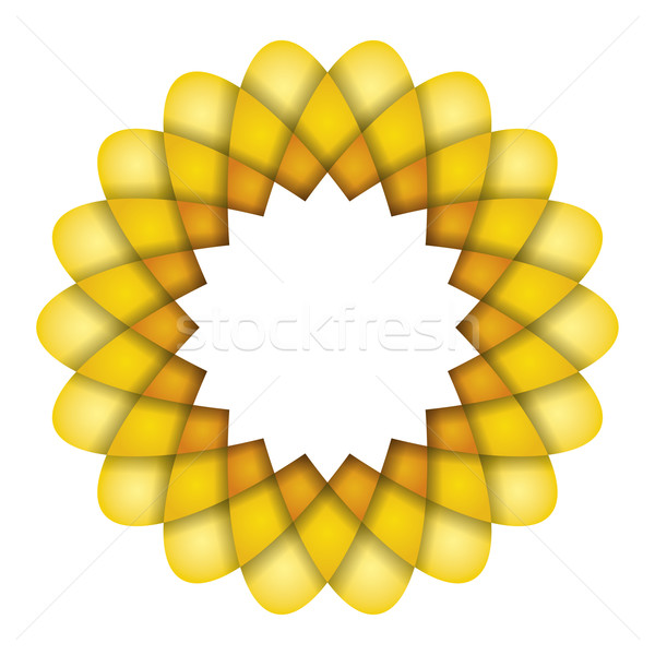 yellow flower graphic Stock photo © magann