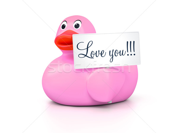 Rubber Ducky Love You Stock photo © magann