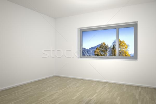 Quarto vazio imagem janela casa parede casa Foto stock © magann