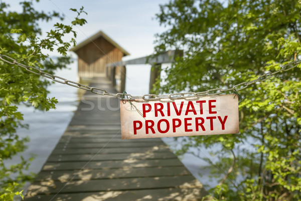 private property sign Stock photo © magann