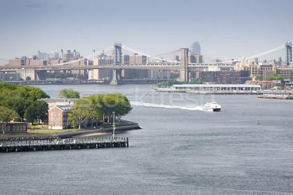 Nueva York imagen edificios cielo oficina agua Foto stock © magann