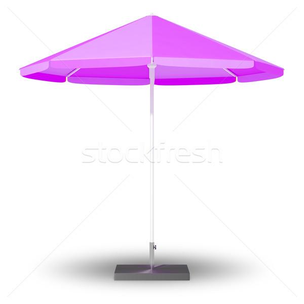 şemsiye görüntü güneş arka plan mavi Stok fotoğraf © magann