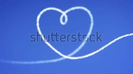 heart blue sky Stock photo © magann